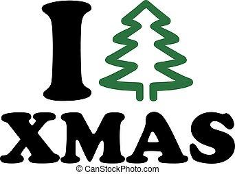 I love christmas with tree