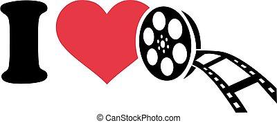 I love cinema with film roll