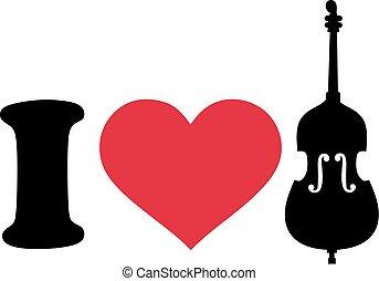 I love Contrabass icon