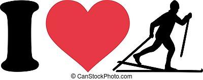 I love Cross country ski silhouette