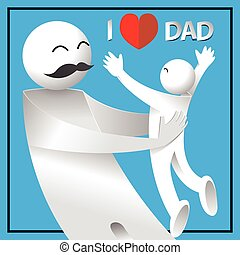 I love dad. happy father's day card.