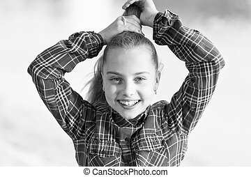 Tremendous I Love Doing Hair Cute Little Child Doing Her Fancy Ponytail Hair Schematic Wiring Diagrams Amerangerunnerswayorg