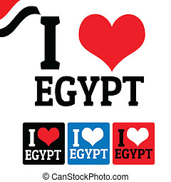 I love Egypt sign and labels