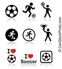 I love football or soccer, man kick