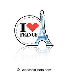 I Love France Label
