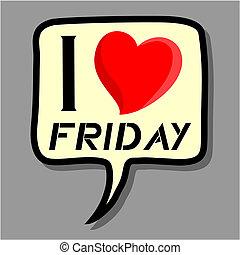 I love Friday sticker