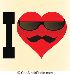 I love glasses and mustache - Background I love glasses and...