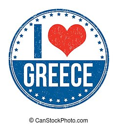 I love Greece stamp