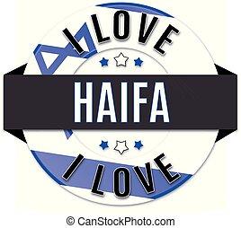 i love HAIFA usa flag icon