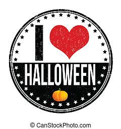 I love Halloween stamp