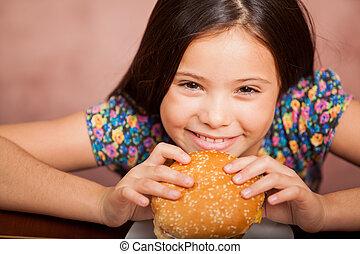 I love hamburgers!