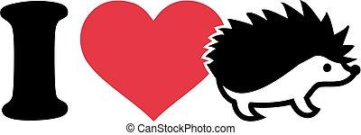 I love Hedgehog icon