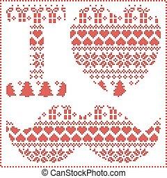 I love hipster pattern cross stitch