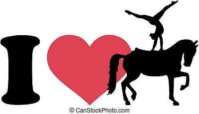 I love Horse Vaulting silhouette