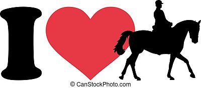 I love horse with rider