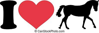 I love horses silhouette
