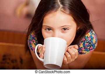 I love hot chocolate