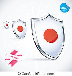 I Love Japan Flag Illustration