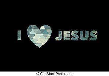 I love Jesus, font