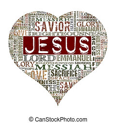 I love Jesus - Religious Words isolated on white
