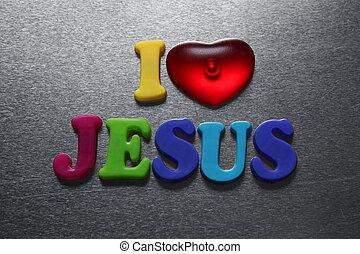 i love jesus sign