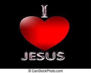 I love Jesus, symbol