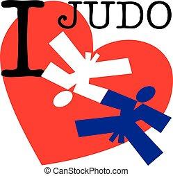I love judo emblem