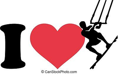 I love kitesurfer