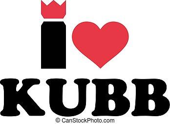 I love Kubb game