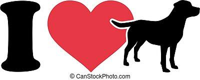 I love labrador icon