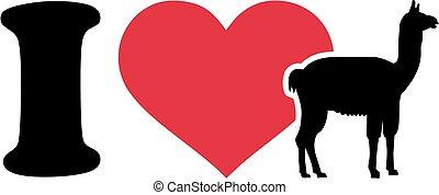 I love lama silhouette