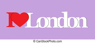 I LOVE LONDON. Color colorful banner.