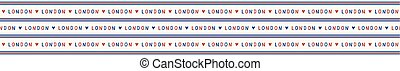 I love London lettering text seamless vector pattern. Famous historical british