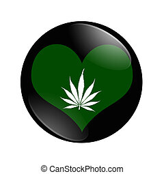 I Love Marijuana button