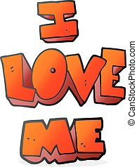 i love me cartoon symbol