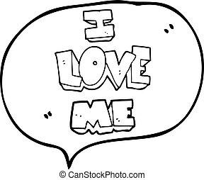 i love me speech bubble cartoon symbol