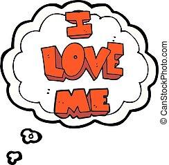 i love me thought bubble cartoon symbol