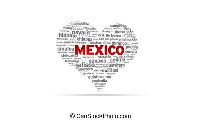 I Love Mexico - Spinning I Love Mexico Heart