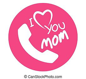 I Love Mom Icon Design