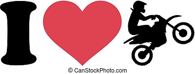 I love Motocross silhouette