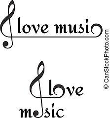 I love music background