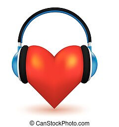 I love music high detailed 3d vector concept