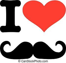 I love Mustache icon