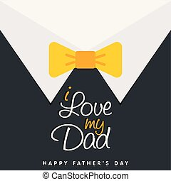 I Love My Dad Happy Father's Day Background