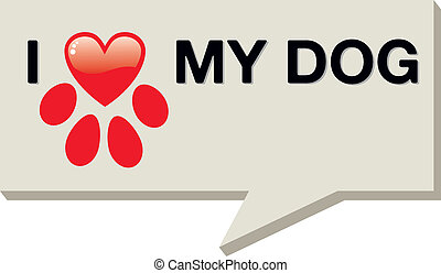 I love my dog with paw heart