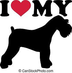 I love my Miniature Schnauzer silhouette - I love my...