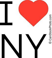 i love ny popular symbol illustration heart new york print...