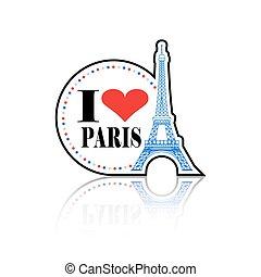 I Love Paris Label