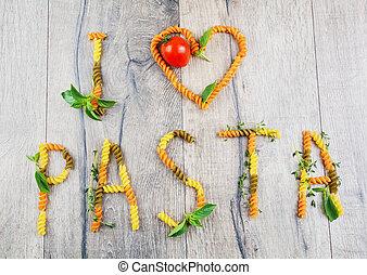 I-love-pasta sign