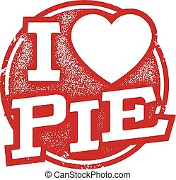 I love Pie Rubber Stamp